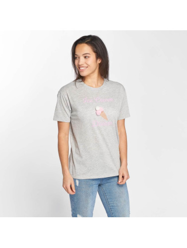 Only Damen T-Shirt onlFurry Ice Cream in grau