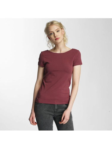Only Damen T-Shirt onlLive Love Lace Up in rot