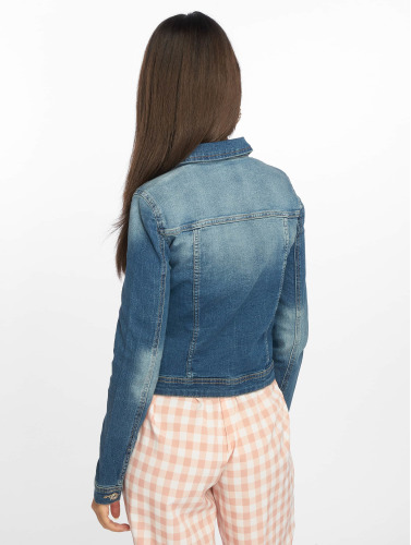 Only Ladies Transition Jacket In Blue Onlnew