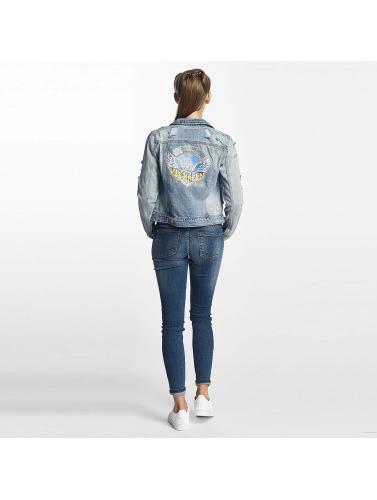 Only Damen Übergangsjacke onlChris Print Denim in blau
