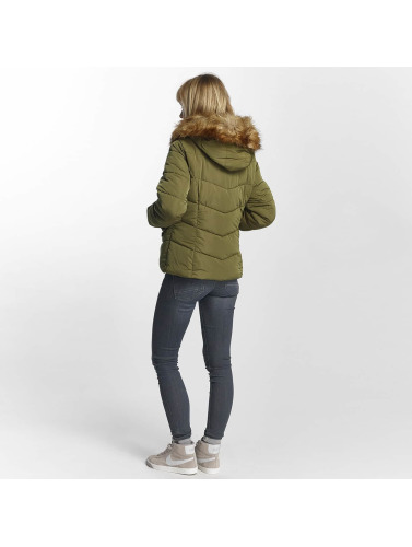 Only Ladies Transition Jacket Onlsanna In Olive