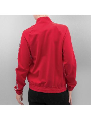 Only Ladies Transition Jacket In Red Onlpoptrash