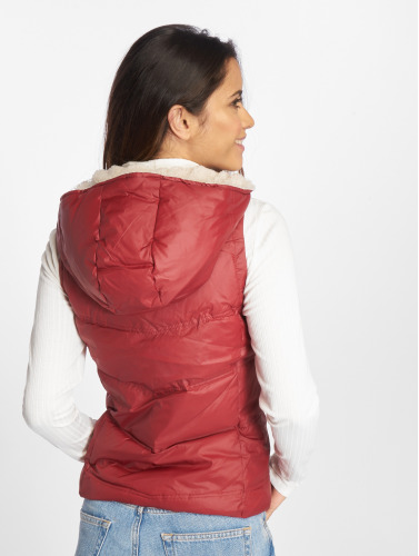 Only Damen Weste onlPeyton Sherpa in rot