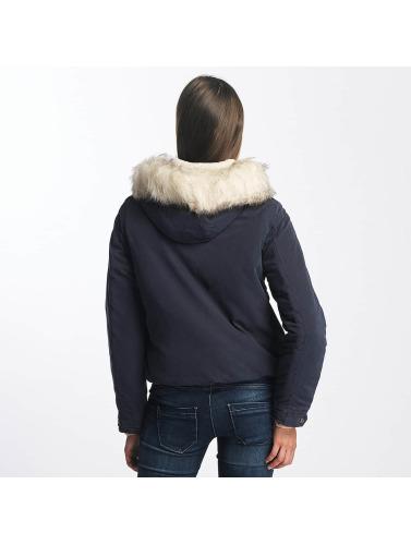 Only Damen Winterjacke onlSkylar Fur Parka in blau