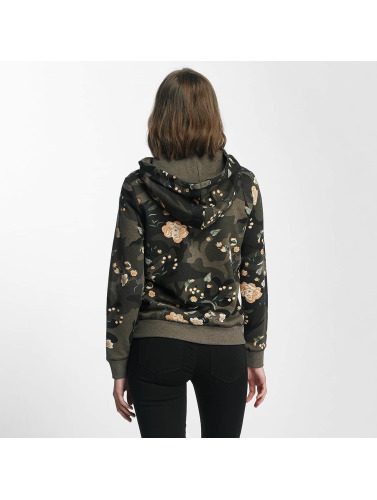 Only Damen Zip Hoodie onlLiva in camouflage