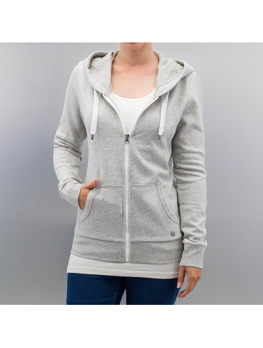 Only Damen Zip Hoodie onlFinley in grau