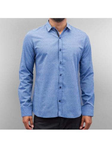 Open Hombres Camisa Dots in azul