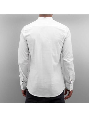 Open Hombres Camisa Emin in blanco