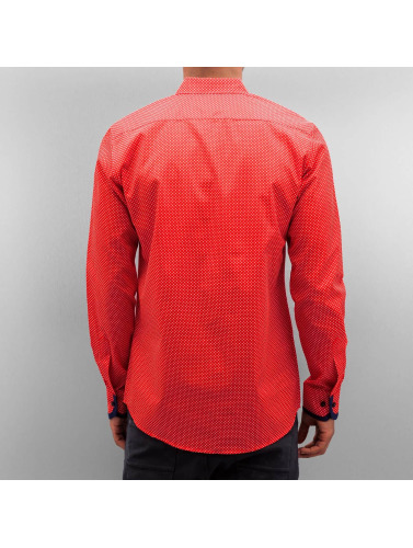 Open Hombres Camisa Dots in rojo
