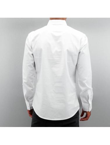 Open Herren Hemd Stitch in weiß