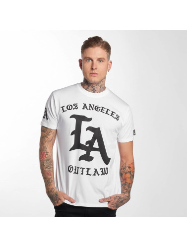 Outlaw Hombres Camiseta <small>                 Outlaw             </small>             <br />              LA in blanco