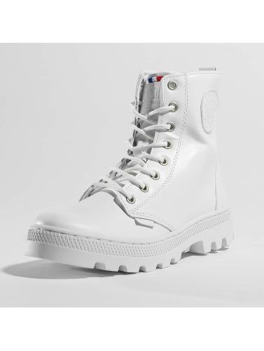 Palladium Mujeres Boots Pallabosse Off Lea in blanco