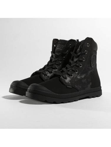 Palladium Damen Boots Pampa Hi Knit LP Camo in schwarz