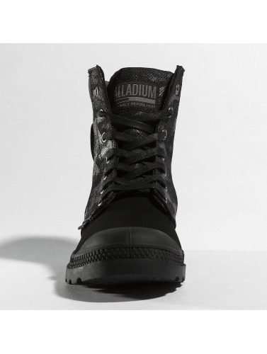 Palladium Damen Boots Pampa Hi Knit LP Camo in schwarz