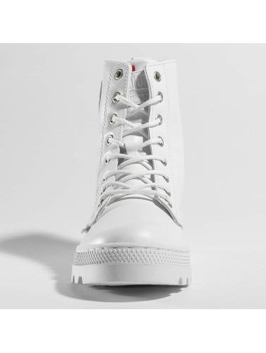 Palladium Damen Boots Pallabosse Off Lea in weiß