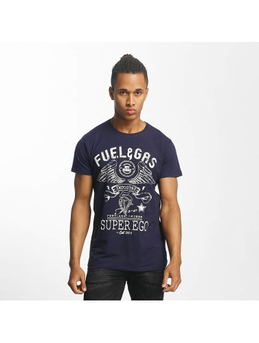 Paris Premium Hombres Camiseta Fuel & Gas in azul