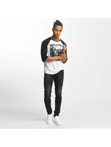 Paris Premium Hombres Camiseta de manga larga Dont Listen in blanco