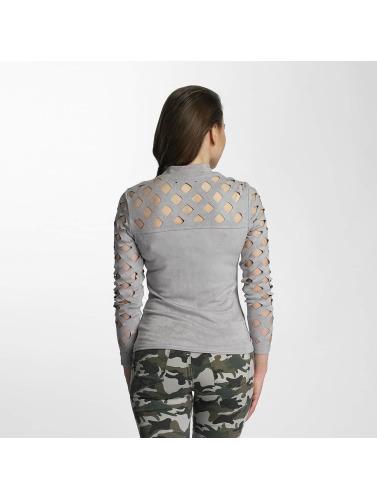 Paris Premium Mujeres Camiseta de manga larga Penelope in gris