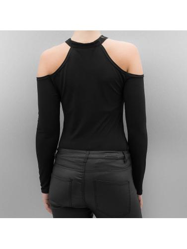 Paris Premium Mujeres Camiseta de manga larga Justina in negro