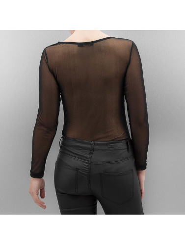 Paris Premium Mujeres Camiseta de manga larga Priska in negro