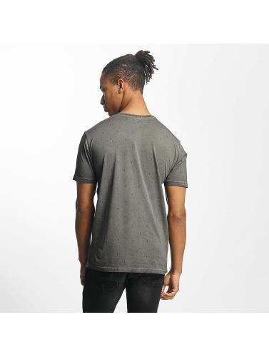 Paris Premium Hombres Camiseta Logo in gris