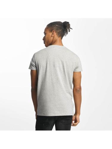 Paris Premium Hombres Camiseta Tapes in gris