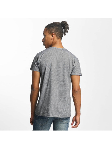 Paris Premium Hombres Camiseta Stripe in gris