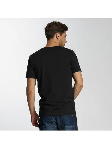 Paris Premium Hombres Camiseta Basic in negro