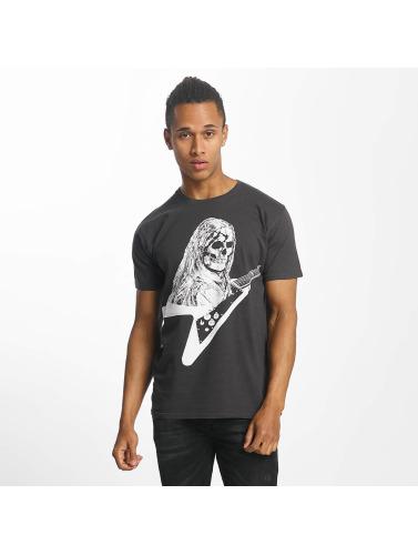 Paris Premium Hombres Camiseta Rockin Skull in negro