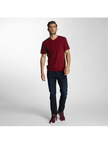 Paris Premium Hombres Camiseta Basic in rojo