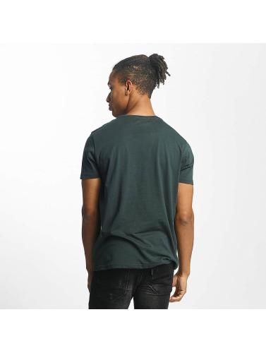 Paris Premium Hombres Camiseta Old School in verde