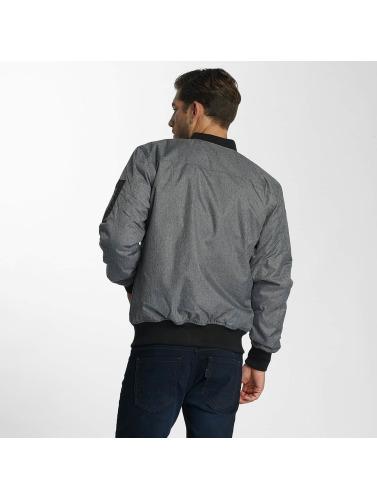 Paris Premium Hombres Cazadora bomber Medan in gris