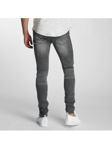 Paris Premium Hombres Jeans ajustado Almond in gris