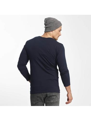 Paris Premium Herren Longsleeve Basic in blau