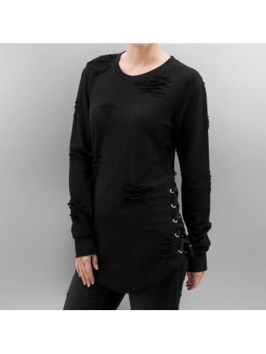 Paris Premium Pullover Destroyed in schwarz