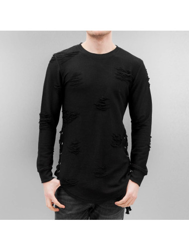 Paris Premium Pullover Destroyed in schwarz