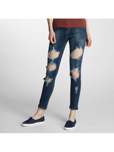 Paris Premium Damen Skinny Jeans Denim in blau