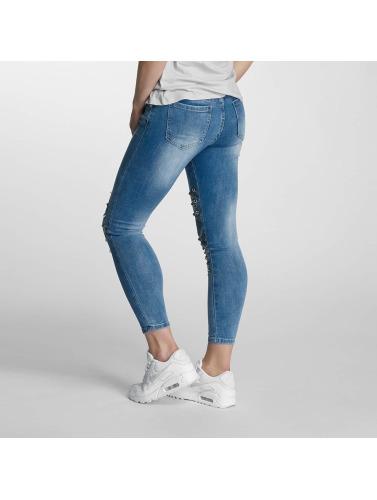 Paris Premium Damen Skinny Jeans Denim in blau