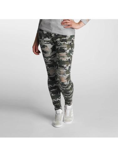 Paris Premium Damen Skinny Jeans Denim in camouflage