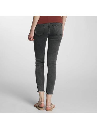 Paris Premium Damen Skinny Jeans Denim in grau