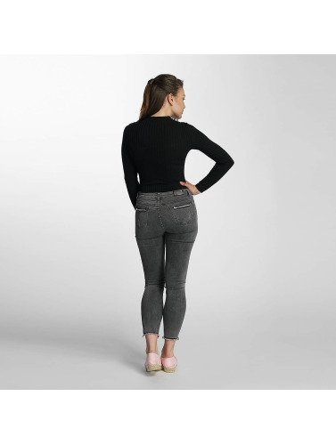 Paris Premium Damen Skinny Jeans Denim in grau
