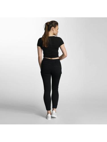 Paris Premium Damen Skinny Jeans Denim in schwarz