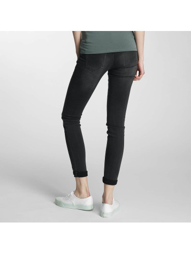 Paris Premium Damen Skinny Jeans Denim in schwarz