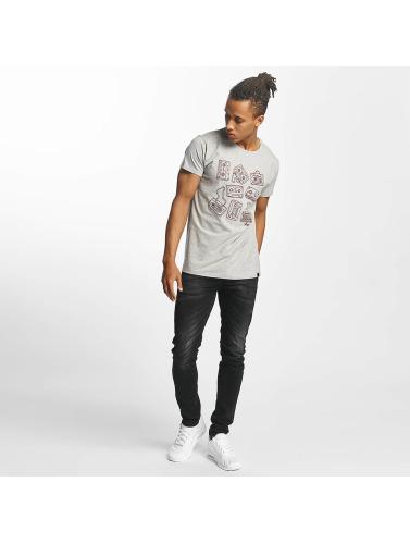 Paris Premium Herren T-Shirt Tapes in grau