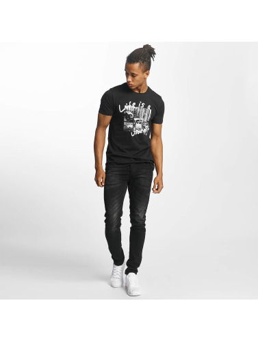 Paris Premium Herren T-Shirt Life is a Journey in schwarz