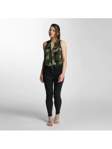 Paris Premium Damen Top Army in camouflage
