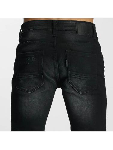 Paris Premium Hombres Vaqueros rectos Used in negro