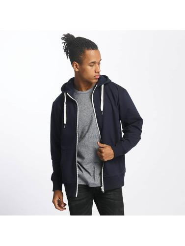Paris Premium Herren Zip Hoodie Basic in blau