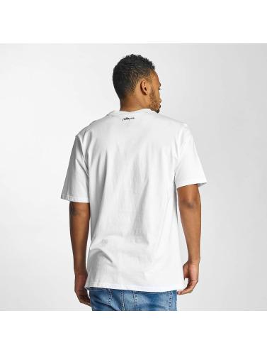 Pelle Pelle Hombres Camiseta Sayagata Icon in blanco