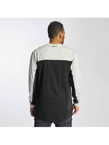 Pelle Pelle Hombres Camiseta de manga larga Sayagata Block in negro
